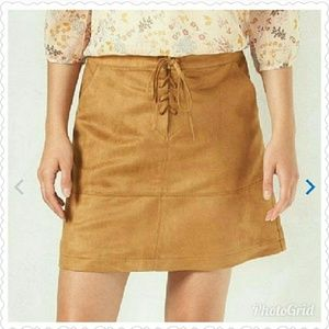 Plus size - LC Brown suede skirt size 16